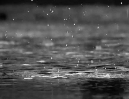 raindrops falling onto the ground