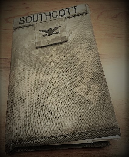 This is an image of Dean Southcott's notebook