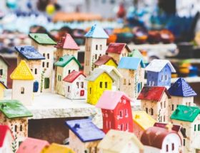 This is an image of small, clay houses.