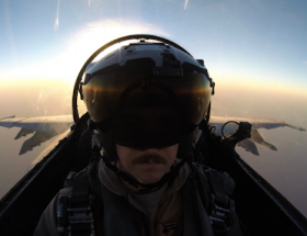 Image of author's brother flying.